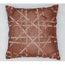 Lattice Silk Dupioni Throw Pillow