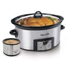 6-Quart Countdown Digital Slow Cooker with Little Dipper® Warmer