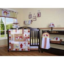 Boutique Fire Truck 13 Piece Crib Bedding Set