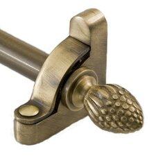 "Heritage 36"" Roped Tubular Stair Rod Set Regular Brackets Pineapple Finial"