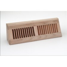 "4.5"" x 18.13"" Red Oak Wood Baseboard Diffuser"