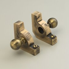"""Sovereign 36"""" Tubular Stair Rod Set with Smooth Brackets Ball Finials"""