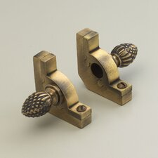 """Sovereign 28.5"""" Tubular Stair Rod Set with Smooth Brackets Pineapple Finials"""