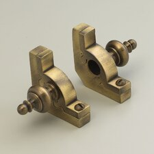 """Sovereign 28.5"""" Tubular Stair Rod Set with Smooth Brackets Urn Finials"""