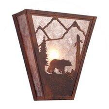 Bear Vegas 1 Light Wall Sconce