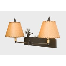 Pinecone Double Swing Arm Wall Lamp