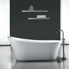 "Rachel 70' x 34"" Freestanding Acrylic Slipper Bathtub"