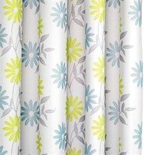 Scribble Flower Textile Shower Curtain