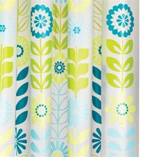 PEVA Mod Floral Shower Curtain