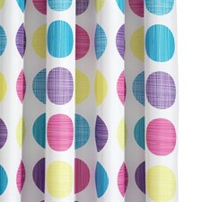 Textured Dots Textile Shower Curtain