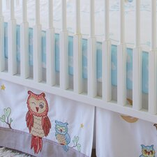 Baby Owls Clouds Fitted Sheet