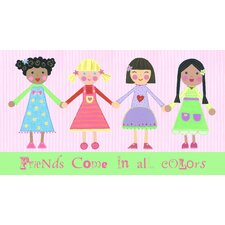 Multi Girls and Friends Come in All Colors Canvas Art