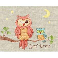 Baby Owls Sweet Dreams Canvas Art