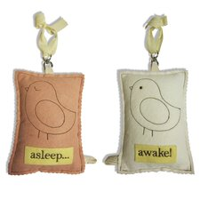 Bird Asleep / Awake Door Hanger