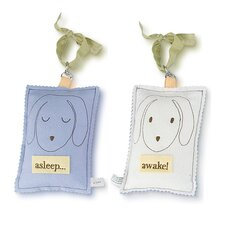 Doggy Asleep / Awake Door Hanger