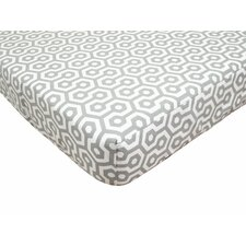 Percale 100% Cotton Fitted Crib Sheet II