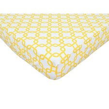 Percale 100% Cotton Golden Yellow Gotcha Fitted Crib Sheet