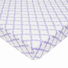 Percale Lavendar Moroccan Fitted Crib Sheet