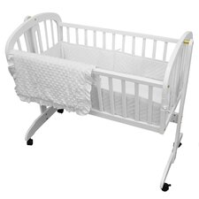Heavenly Soft Three Piece Minky Dot Cradle Set