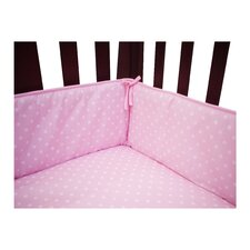 Percale Polka Dot Crib Bumper