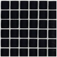 "Shimmer Blends 2"" x 2"" Ceramic Mosaic Tile in Midnight"