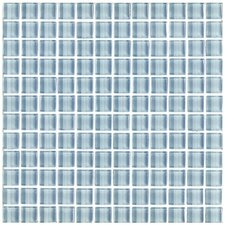 "Shimmer 1"" x 1"" Ceramic Mosaic Tile in Daylight"