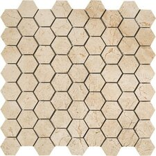 """Timeless Collection 1.5"""" x 1.75"""" Porcelain Mosaic Tile in Marfil Cream"""