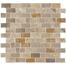 """Jade 1"""" x 2"""" Porcelain Mosaic Tile in Taupe"""