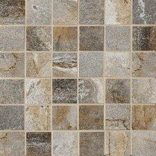 """Vesale Stone 2"""" x 2"""" Porcelain Mosaic Tile in Smoke"""