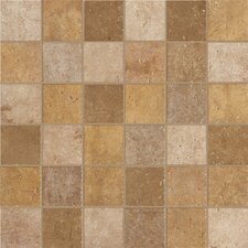 "Walnut Canyon 2"" x 2"" Porcelain Mosaic Tile in Golden"