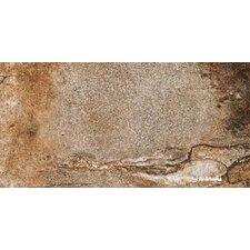 """Vesale Stone 10"""" x 20"""" Porcelain Field Tile in Rust"""