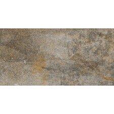 """Vesale Stone 10"""" x 20"""" Porcelain Field Tile in Smoke"""