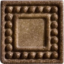 """Romancing the Stone 2"""" x 2"""" Compressed Stone Dot Insert in Noce (Set of 3)"""