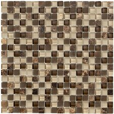 Crystal Stone II Glass Mosaic Tile in Espresso