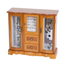 Lyra Glass Door Jewelry Box