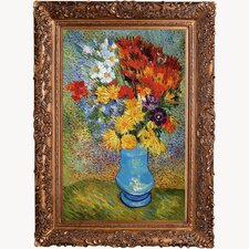 Vase with Daisies and Anemones by Vincent Van Gogh Original Painting on Canvas