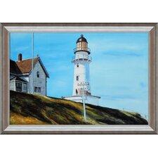 Hopper Light at Two Lights Canvas Art