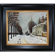Snow on the Road, Louveciennes Canvas Art