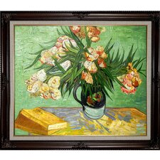 Van Gogh Majolica Jar with Branches of Oleander, 1888 Oil Painting Hand Painted Oil on Canvas Wall Art