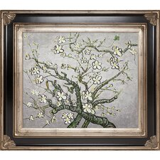 Van Gogh Branches of an Almond Tree in Blossom (Artist Interpretation in Pearl Gray) Hand Painted Oil on Canvas Wall Art