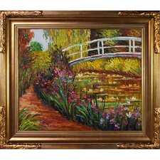The Japanese Bridge by Monet Framed Original Painting