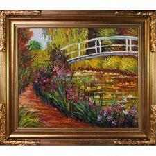 The Japanese Bridge by Monet Framed Original Painting