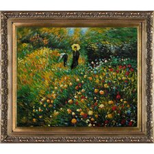 Woman with a Parasol in a Garden by Renoir Framed Painting