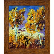 Ledent - Two Trees in Fall Framed, High Quality Print on Canvas