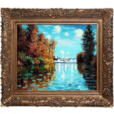 Autumn at Argenteuil Monet Framed Original Painting
