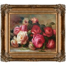 Discarded Roses Renoir Framed Original Painting