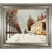 Snow on the Road, Louveciennes Sisley Framed Original Painting
