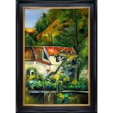 House of Piere La Croix by Cezanne Framed Hand Painted Oil on Canvas