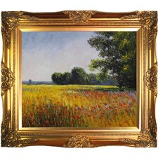 Oat Fields by Monet Framed Hand Painted Oil on Canvas