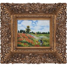 Poppy Field in Argenteuil by Monet Framed Hand Painted Oil on Canvas